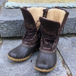 Shearling Lined Bean Boots